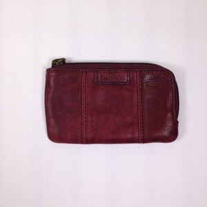 ELLINGTON Reddish Brown Distressed Leather Pouch